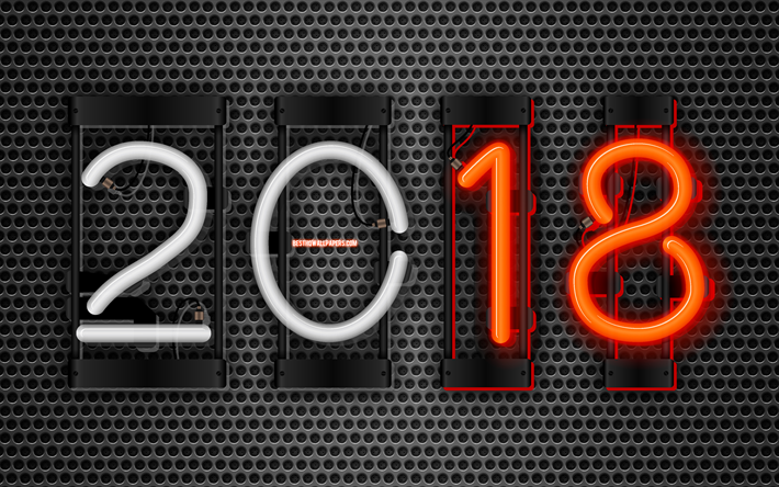 thumb2-4k-2018-year-art-neon-digits-metal-grid